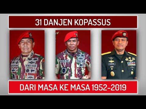 DANJEN KOPASSUS Komandan Jenderal Komando Pasukan Khusus TNI AD 1952 2019