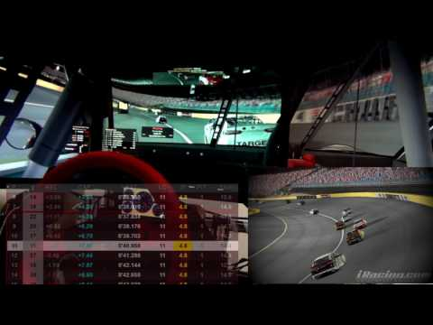 NiS Charlotte 600 - NASCAR iRacing Series Ford Fusion Sim onboard