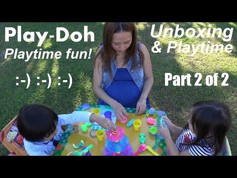 Hulyan & Maya's Play-Doh Cupcake Tower Unboxing & Playtime 2 of 2