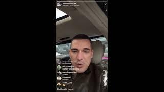 Муж Ксюши Бородиной в прямом эфире Instagram 02-04-2018