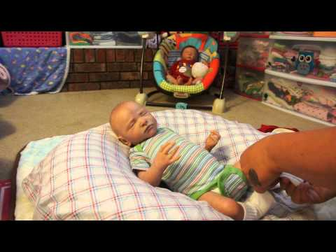 a changing and feeding of reborn baby Dax!!!