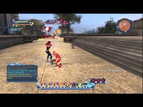 Dc Universe Online Fire Tank vs Donna Troy