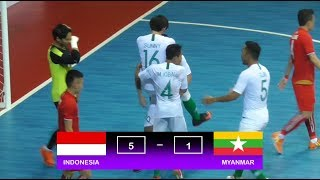 Highlights Indonesia Vs Myanmar (5-1) AFF Futsal Championship 2018