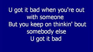Usher - U got it bad LYRICS