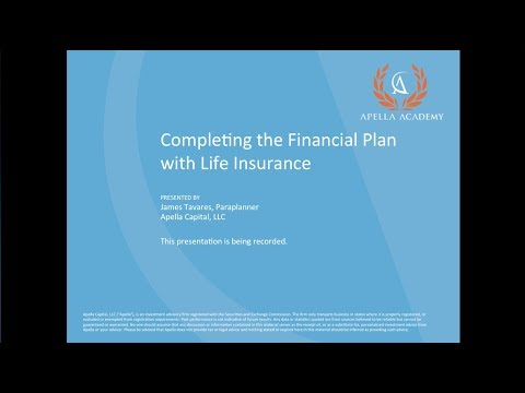 Completing the Financial Plan with Life Insurance