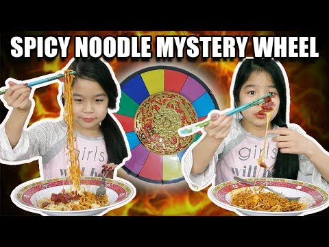 SPICY NOODLE CHALLENGE 🌶 MYSTERY WHEEL (2019)