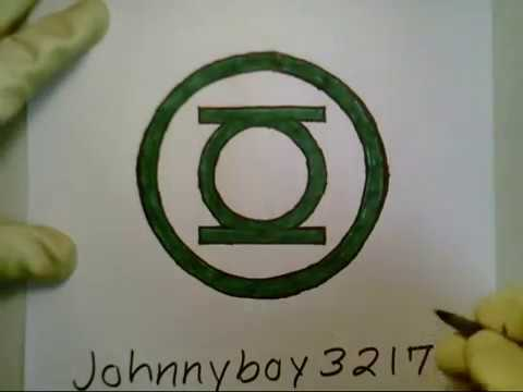 How To Draw Green Lantern Logo Sign Symbol Emblem Marvel Civil War