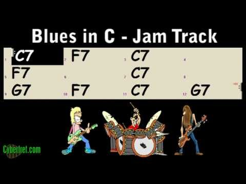 Slow Blues Jam Track in C Major