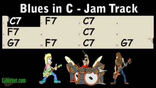 Slow Blues Jam Track in C Major