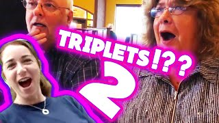 Triplets!! Again! More funny & heart warming triplet pregnancy reveal compilation Part 2