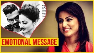 Hina Khan's Boyfriend Rocky Writes An EMOTIONAL MESSAGE For Her | Bigg Boss 11