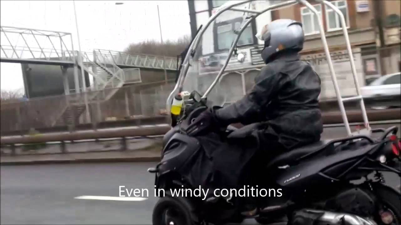 gilera fuoco/piaggio mp3 roof canopy - youtube
