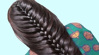 Beautiful Twisted Braid Hairstyle for girls   Wedding Guest Hairstyles   Hair style girl