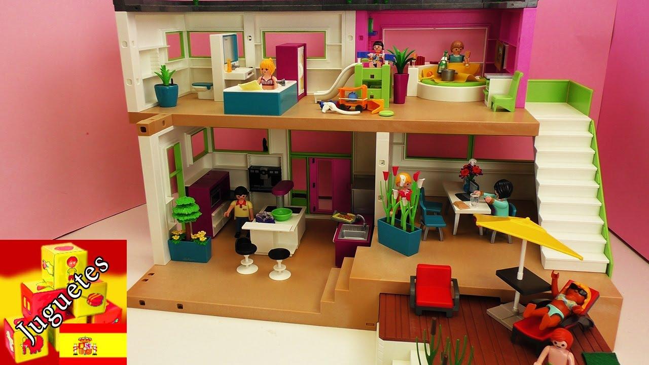 Tour por la villa de lujo de playmobil youtube for Casa moderna playmobil 5574