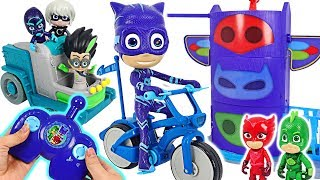 Surprise! PJ Masks RC Catboy Wheelie bike! Get out! Monsters and bugs! #DuDuPopTOY