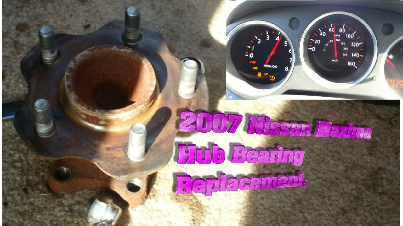 Wheel Bearing Noise >> REAR HUB BEARING REPLACEMENT on 2007 NISSAN MAXIMA 3.5 SE - YouTube