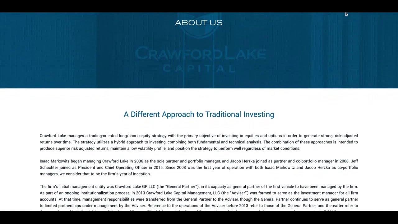 CRAWFORD LAKE CAPITAL MANAGEMENT, LLC - LAKEWOOD , NJ