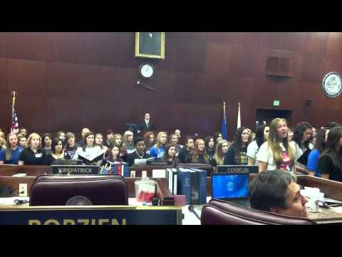Nevada All State Choir, Nevada Assembly Chambers