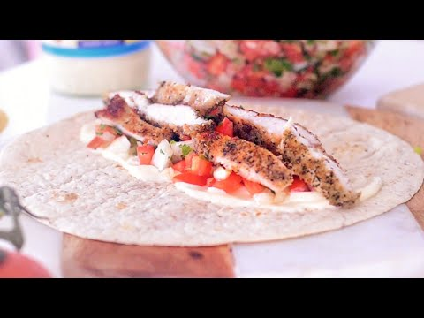 Easy Chicken Wraps with salsa