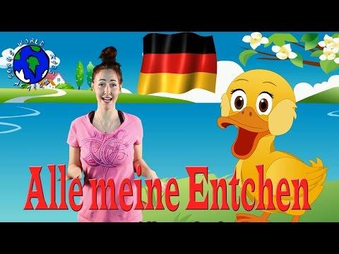 Alle meine Entchen | German Ducks Song | World Kids Action Songs