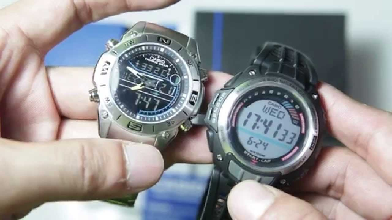 74f8c682e8ac Casio Outgear AMW-703D vs casio outgear SGW-200-1AV - YouTube