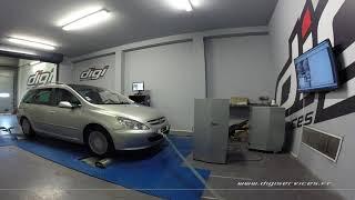 Peugeot 307 2.0 hdi 110cv Reprogrammation Moteur @ 135cv Digiservices Paris 77 Dyno