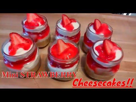 STRAWBERRY Cheesecakes in a Jar Recipe / Kiwanna's Kitchen