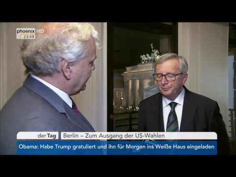 Nach der US-Wahl: Exklusiv-Interview mit Jean-Claude Juncker am 09.11.2016