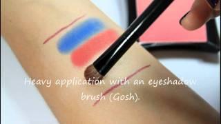 Illamasqua swatches (eyeshadows and blusher) Thumbnail