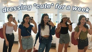 dressing *cute* to school for a week