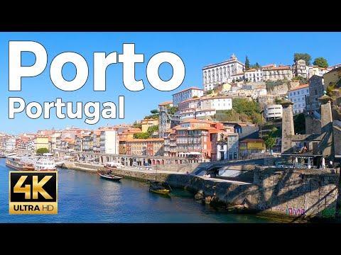 Porto, Portugal Walking Tour (4k Ultra HD 60fps)