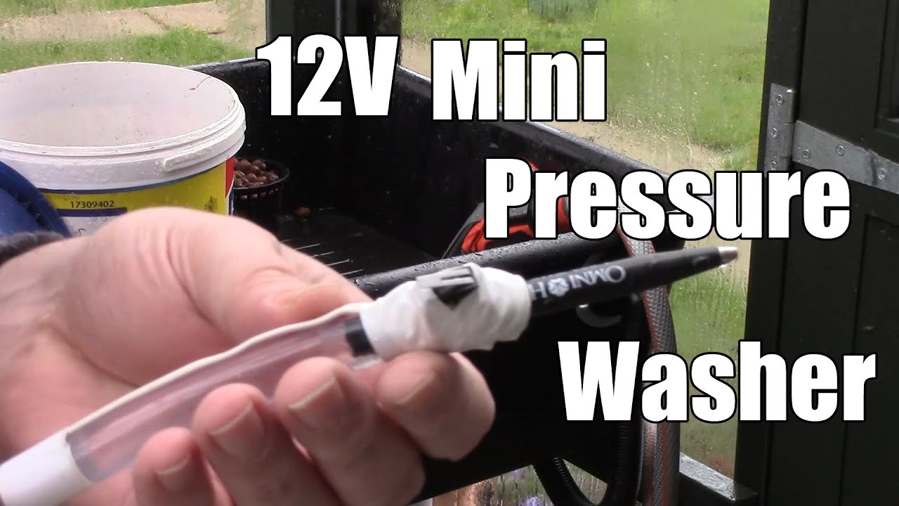 Pump Action A Cheap 12v Mini Pressure Washer And A