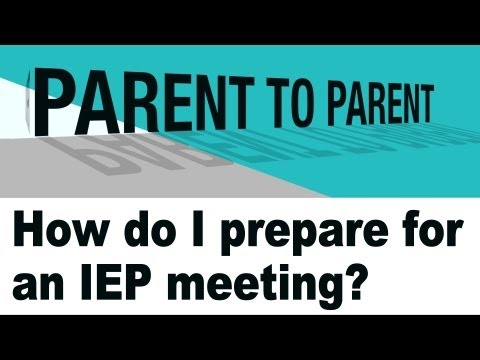 How do I prepare for an IEP meeting?