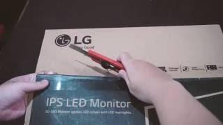 Unboxing LG 20MP48A 20 quot IPS LED Monitor 19 5 quot Diagonal