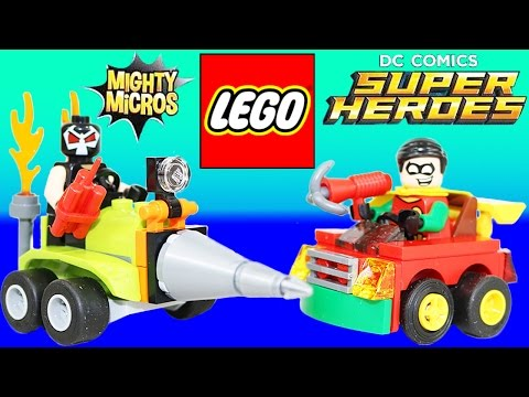Lego DC Comics Super Heroes Mighty Micros Robin vs Bane! Robin saves the city from Bane!