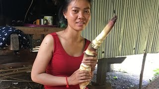 Primitive Technology, Foods and Net Fishing: Bamboo Soup, Village food factory