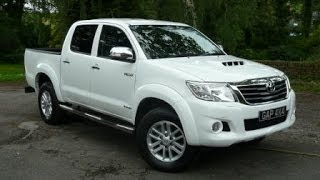 2012/12 White Toyota Hilux Invincible 3.0 D4D Manual With Leather and Sat Nav