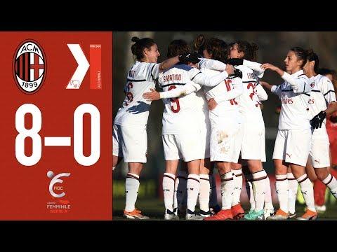 Highlights AC Milan 8-0 Pink Bari - Matchday 12 Women's Serie A 2018/19