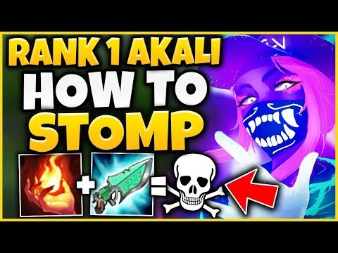 #1 AKALI WORLD SHOWS HOW TO STOMP EVERY GAME (ALWAYS CARRY) - League of Legends