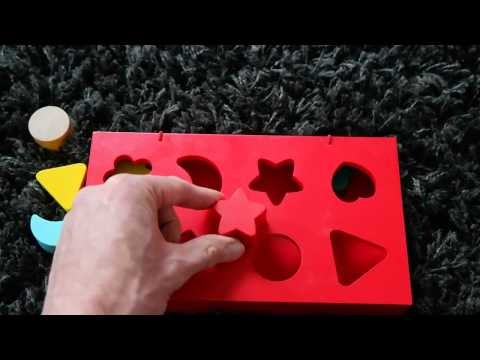 Red puzzle baby kids play music game