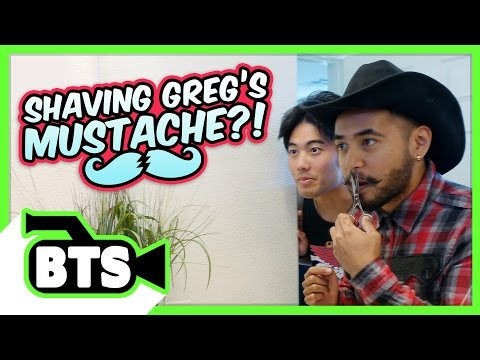 Greg Shaves His Mustache!? (BTS)