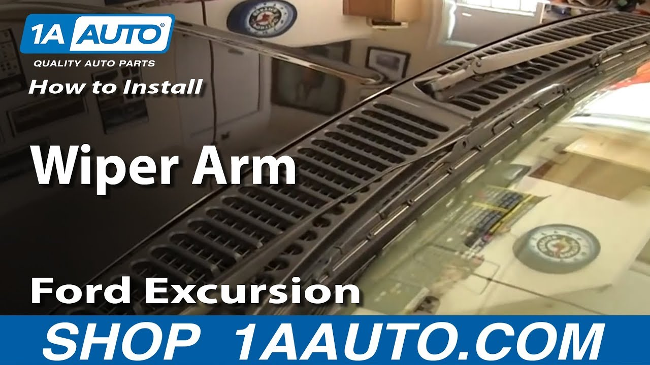 small resolution of how to install replace wiper arm 2000 05 ford excursion 99 07 f250 f350 youtube