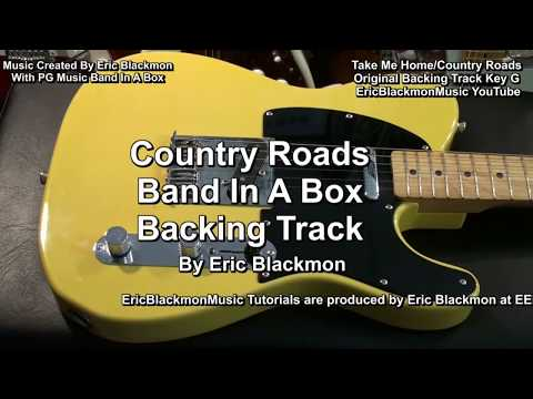 How To Play Country Roads Melody Solo On Guitar + Practice Backing Track