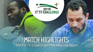 Aruna Quadri vs Thiago Monteiro | 2019 ITTF Nigeria Open Highlights (1/4)