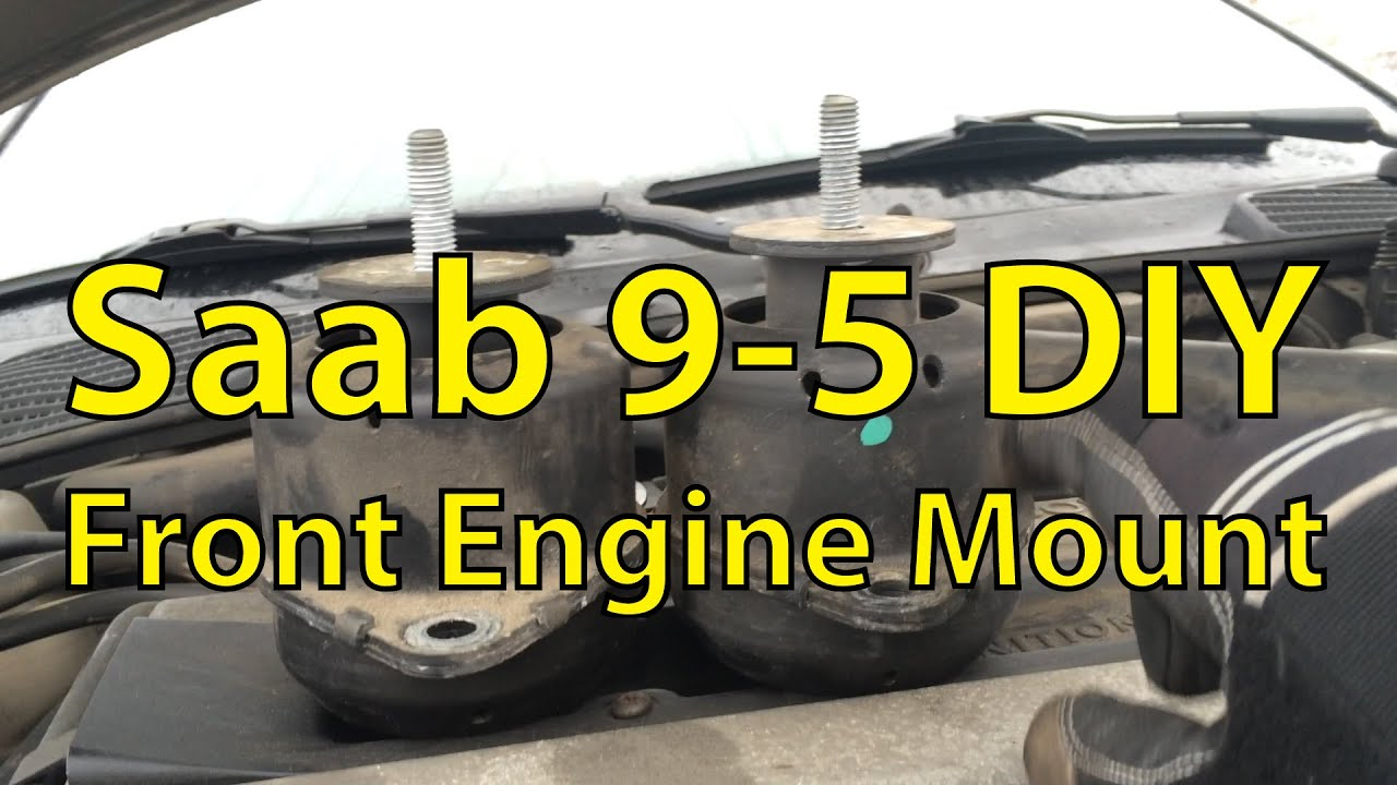 saab 9 5 diy front engine mount replacement trionic seven youtube rh youtube com 1996 Saab 900 Transmission Parts Diagram 2003 Saab 9 3 Timing Diagram