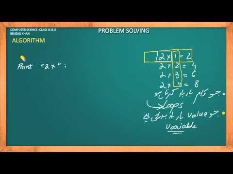 Algorithm -Problem Solving Part 14 (Urdu Language)