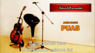 Amir Masdi - Puas ( Karaoke Versi Akustik )