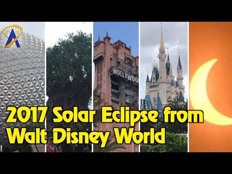 Solar Eclipse Time-Lapse From All Four Walt Disney World Theme Parks