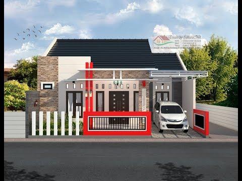 Modern House (10x8) 3 K. Tidur. Desain Rumah Minimalis Lantai 1