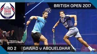 Squash: Gawad v Abouelghar - British Open 2017 RD 2 Highlights